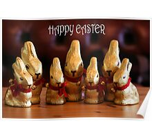 Happy Easter Bunnies Poster