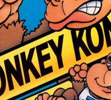 DONKEY KONG NES Box cover Sticker