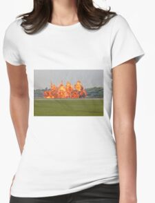Controlled explosion at Biggin Hill Airport Womens Fitted T-Shirt