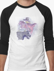 Darkwing Duck Digital Watercolor Men's Baseball ¾ T-Shirt