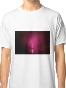 Lightning across a night sky Classic T-Shirt