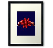 Red Ribbon Gift iPhone 6 Cover Framed Print