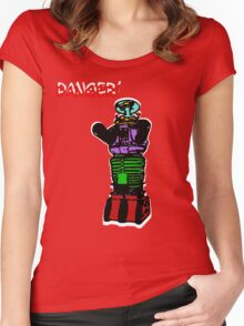 the robot t-shirt Women's Fitted Scoop T-Shirt