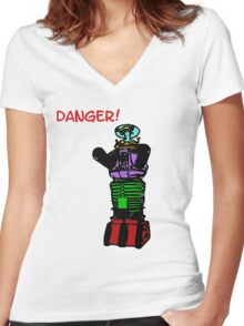 the robot t-shirt Women's Fitted V-Neck T-Shirt