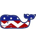 Vineyard Vines Whale America Chevron by Seaweed4