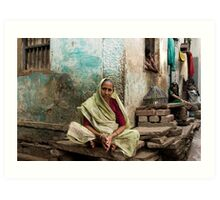 Resting. Varanasi Art Print