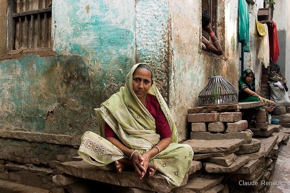 Resting. Varanasi by Claude  Renault