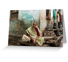 Resting. Varanasi Greeting Card