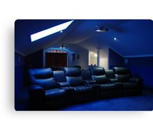 Home theatre Canvas Print