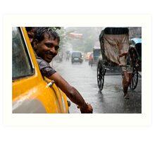 Monsoon. Calcutta Art Print