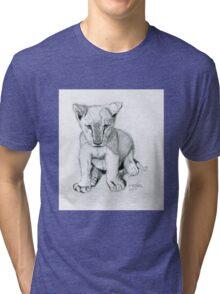 Kinuli the Lioness Cub Tri-blend T-Shirt