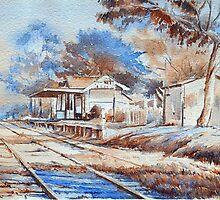 Yarra Glen railway by Christine Lacreole