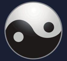 Yin Yang T-shirt - Ying Yan Sticker Kids Clothes