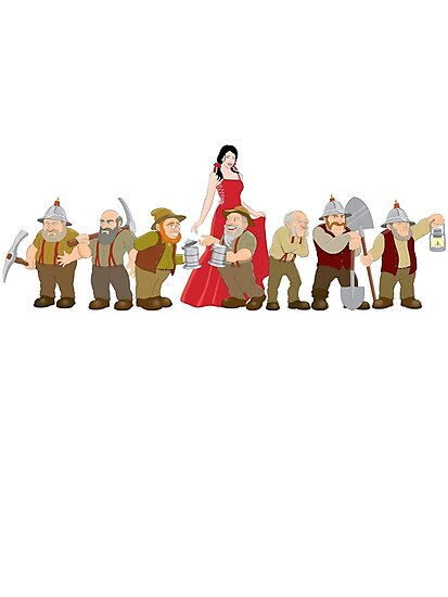 Snow White and the Seven Dwarfs by Dave Charlton