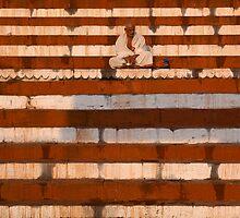Meditation. Varanasi by Claude  Renault