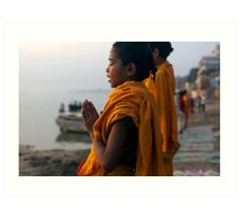 Morning Puja. Varanasi Art Print