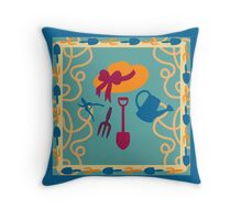 Garden Summertime Throw Pillow