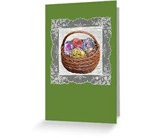 Easter Eggs and Lace Greeting Card