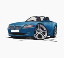BMW Z4 (E85) Blue Kids Tee
