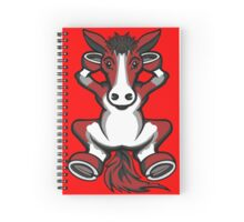 Horse Red and Grey  Spiral Notebook