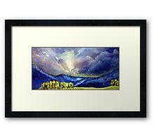 Mountain Blue Framed Print