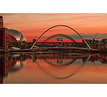 Tyne bridges at Sunset Photographic Print