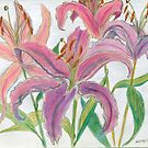 Oriental Lilies by Kashmere1646