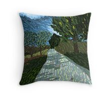 Windswept Pathway Throw Pillow