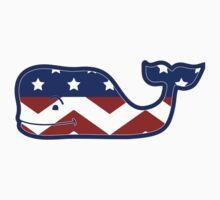 Vineyard Vines Whale America Chevron by Seaweed4
