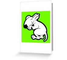 English Bull Terrier Snug Greeting Card