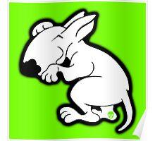 English Bull Terrier Snug Poster