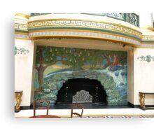 Glorious fireplace Canvas Print