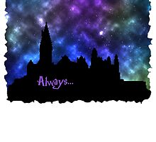 Hogwarts at Night - Always by PinkHorcrux