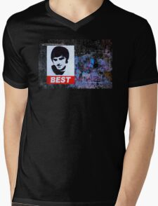 George Best Wall Art Mens V-Neck T-Shirt