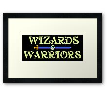 Wizards & Warriors Framed Print