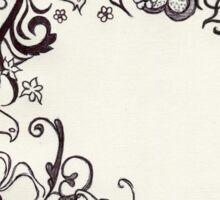 Fairytale Swirls and Florals Sticker