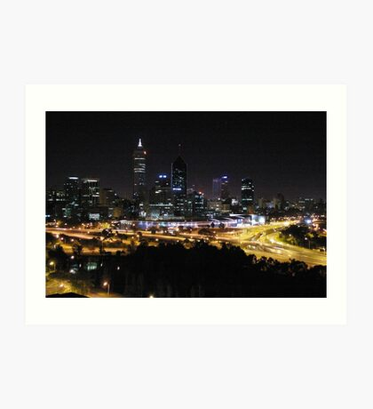 Perth City - Western Australia Art Print
