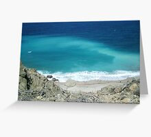 Blue wild sea (Karpathos, Greek) Greeting Card