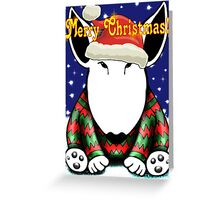 English Bull Terrier Christmas Card Greeting Card