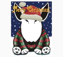 English Bull Terrier Christmas Card Kids Clothes