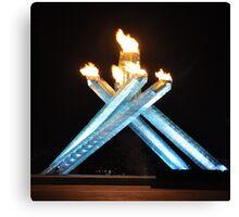 Olympic cauldron Canvas Print