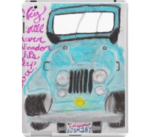 I'll Never Abandon This Jeep Ever iPad Case/Skin