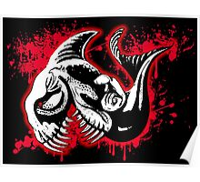 Feisty Fish Red and Black Poster