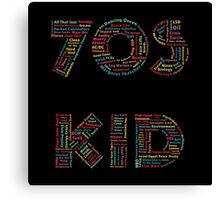 70s Kid Canvas Print