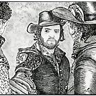 Athos, Porthos and Aramis Illustration - The Musketeers by burketeer