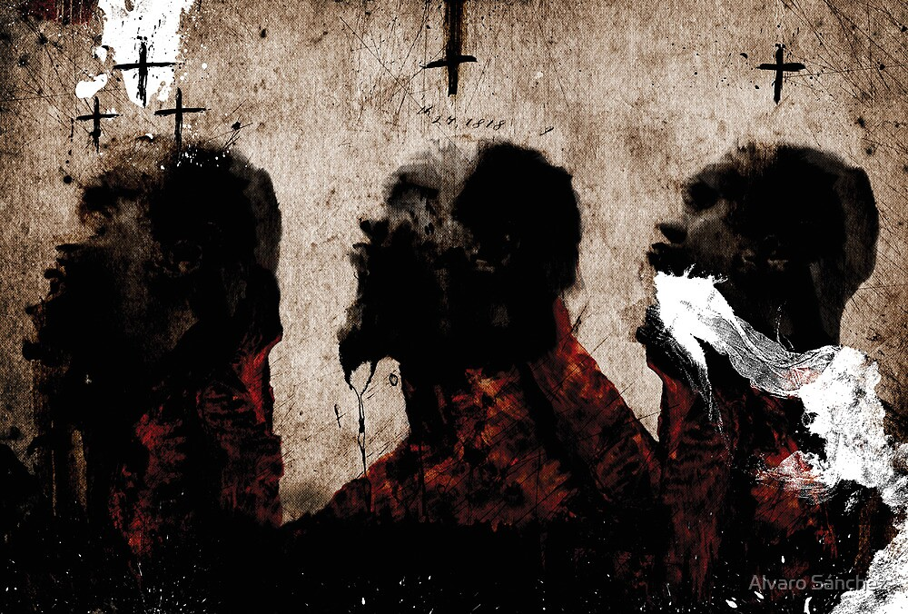 3 MEN CHOKING by Alvaro Sánchez