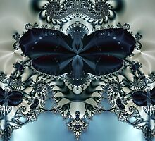 Blue Butterfly Lace II by owlspook