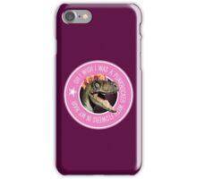 Velociraptor Punkrocker iPhone Case/Skin