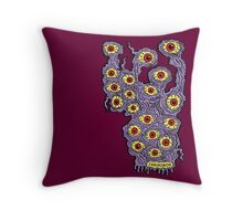 Many Eyes Monster Throw Pillow