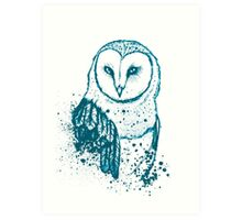 Owl Tee Art Print